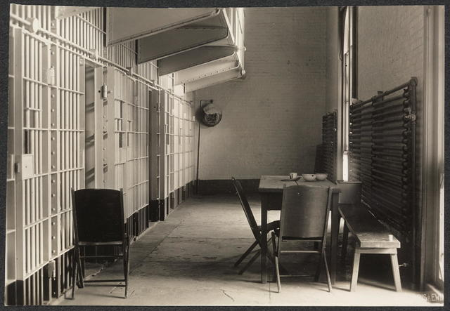 Tier in D.C. prison where suffragists were confined in 1917.