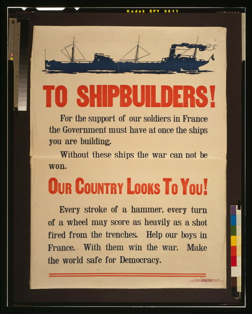 To shipbuilders! [...] Our country looks to you!