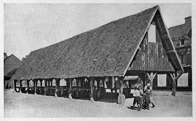 Touques (Calvados). The market, XV century