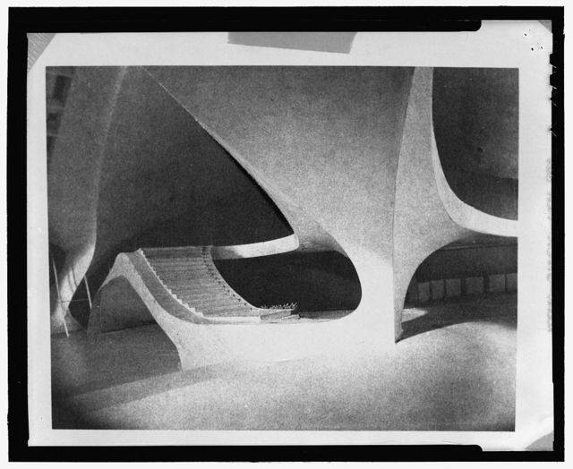 Trans World Airlines Terminal, John F. Kennedy (originally Idlewild) Airport, New York, New York, 1956-62. Study model