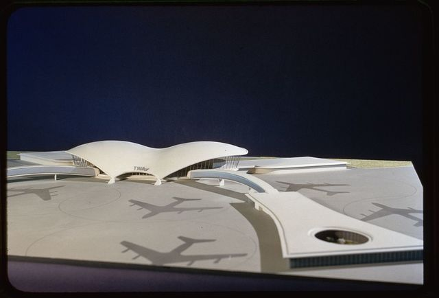 Trans World Airlines Terminal, John F. Kennedy (originally Idlewild) Airport, New York, New York, 1956-62. Early model
