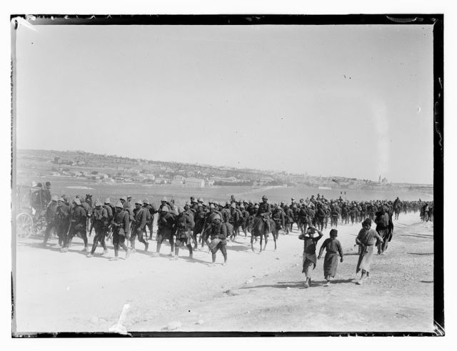 Turk mili. [i.e., military] WWI. German troops on parade. Parade 1