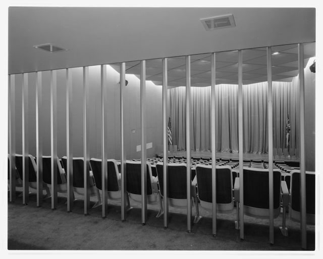 United States Embassy, London, 1955-60. Auditorium