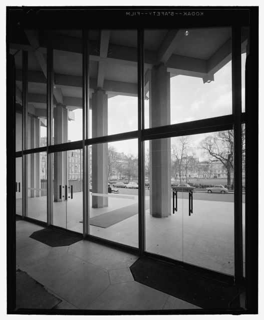 United States Embassy, London, 1955-60. Interior detail