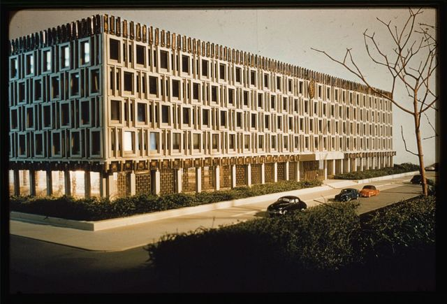 United States Embassy, London, 1955-60. Model