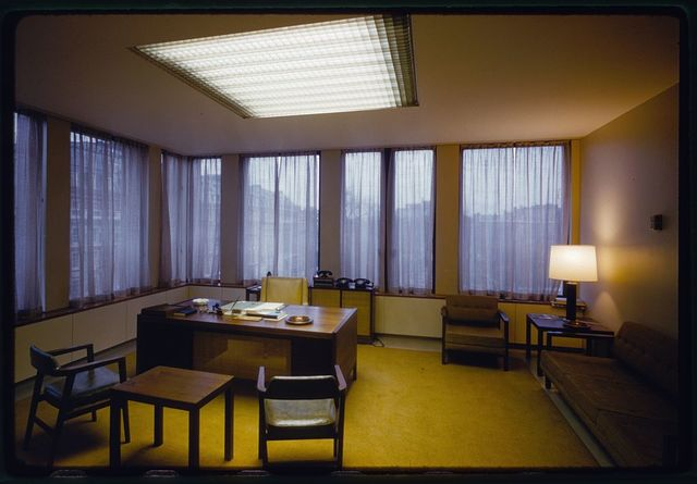 United States Embassy, London, 1955-60. Office interior