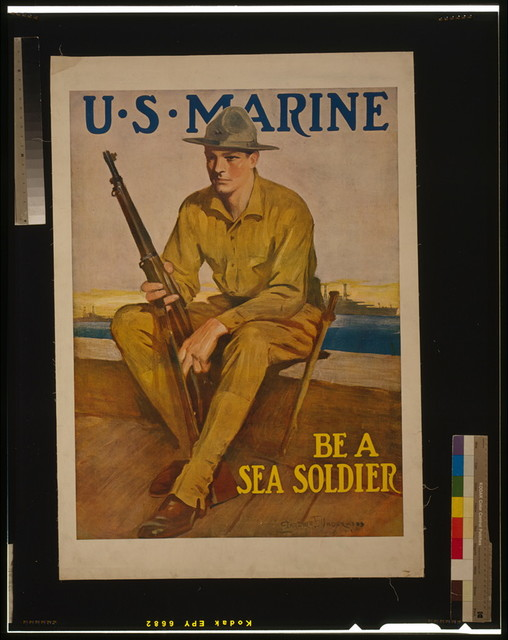 U.S. Marine - Be a sea soldier / Clarence F. Underwood.