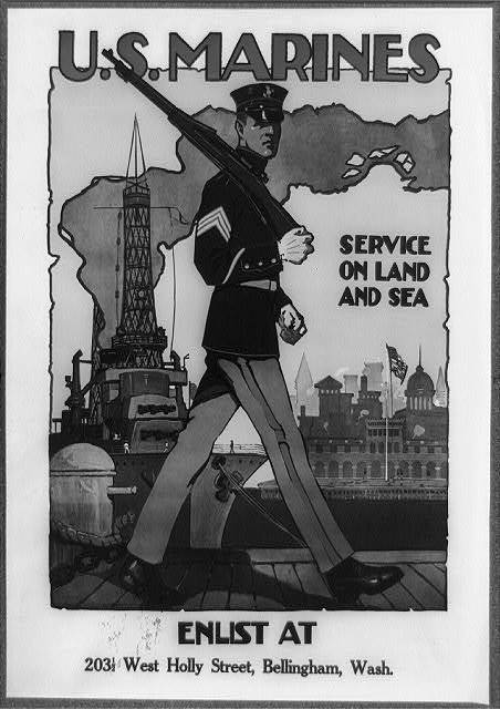 U.S. Marine Corps - Service on land and sea / Sidney H. Riesenberg.