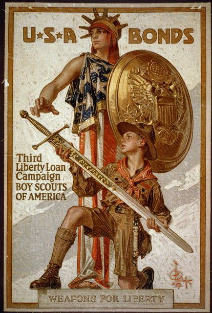 U*S*A Bonds - Third Liberty Loan Campaign - Boy Scouts of America Weapons for liberty / / J.C. Leyendecker ; American Lithographic Co. N.Y.