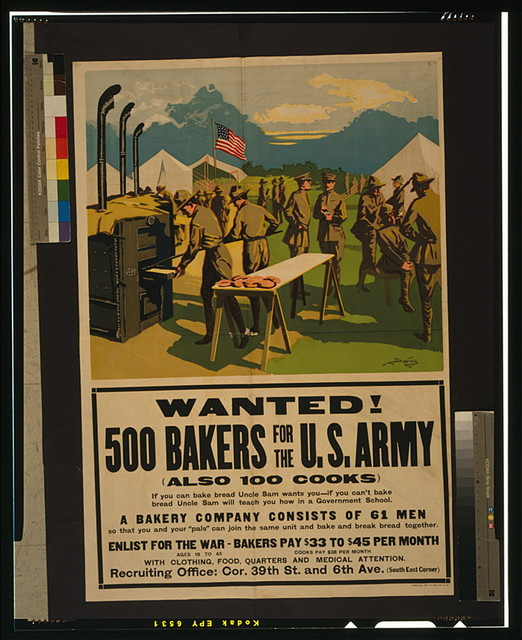 Wanted! 500 bakers for the U.S. Army, (also 100 cooks) / Dewey.