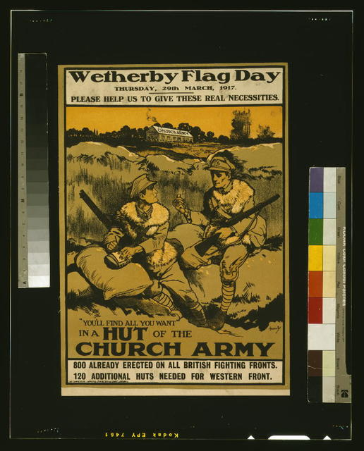 Wetherby flag day, Thursday, 29th March, 1917. Please help us to give these real necessities / Hassally ; The Commercial Supply Co., 8 Wine Office Court, London, E.C.