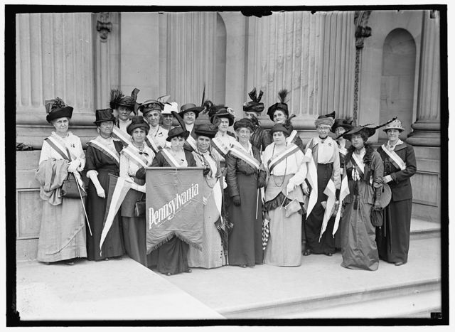 WOMAN SUFFRAGE. PENNSYLVANIA PICKETS