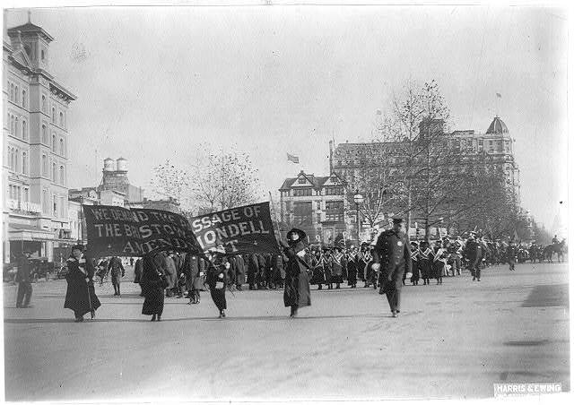 Women suffrage parade, Wash., D. C.