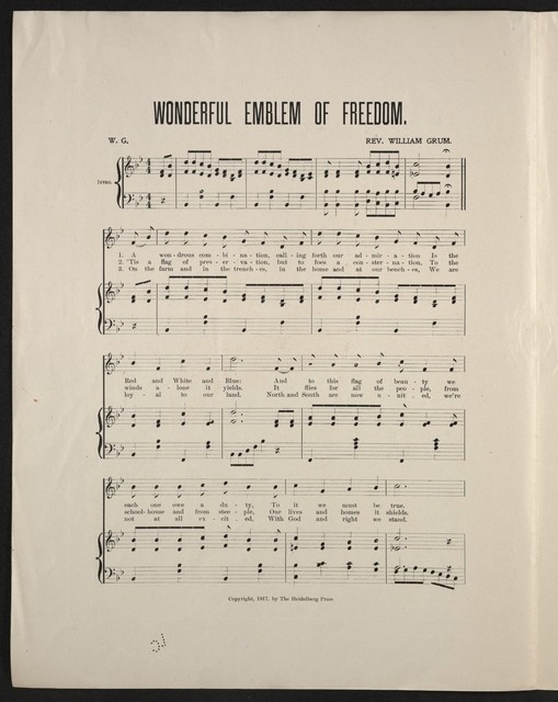 Wonderful emblem of freedom an out of the ordinary patriotic song