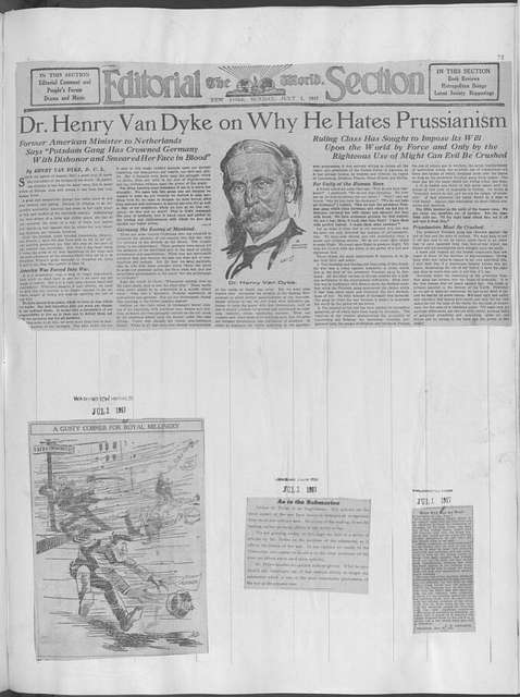 World War history : daily records and comments as appeared in American and foreign newspapers, 1914-1926 (New York), June 30, 1917, (1917 June 30-July 05)