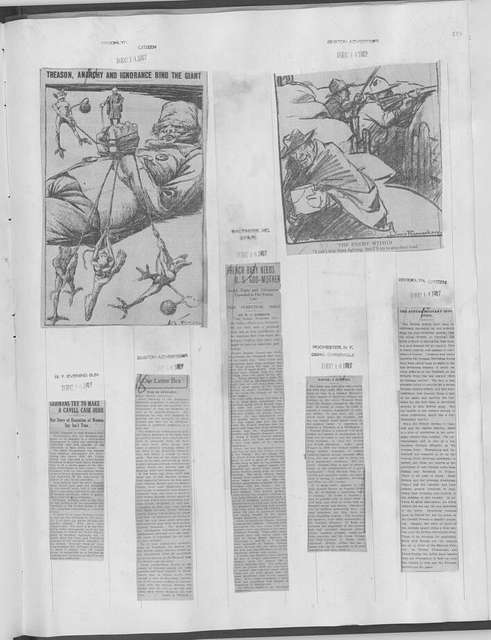 World War history : daily records and comments as appeared in American and foreign newspapers, 1914-1926 (New York), December 9, 1917, (1917 December 9-15)