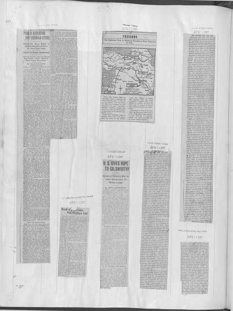 World War history : daily records and comments as appeared in American and foreign newspapers, 1914-1926 (New York), April 11, 1917, (1917 April 11-17)
