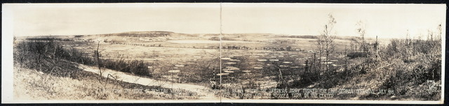 A view from the edge of Belleau Woods, looking toward Hill no. 193 where the American Army turned the last German offensive, July 1918. Torcy and Belleau on the left, Givry Hill no. 193 and Les Brusses farm on the center