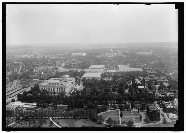 [Aerial view of mall looking east, Washington, D.C.]