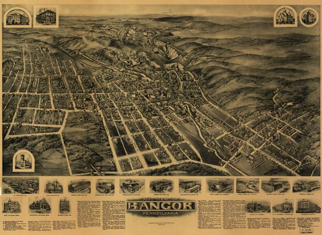 Aero view of Bangor, Pennsylvania 1918 /