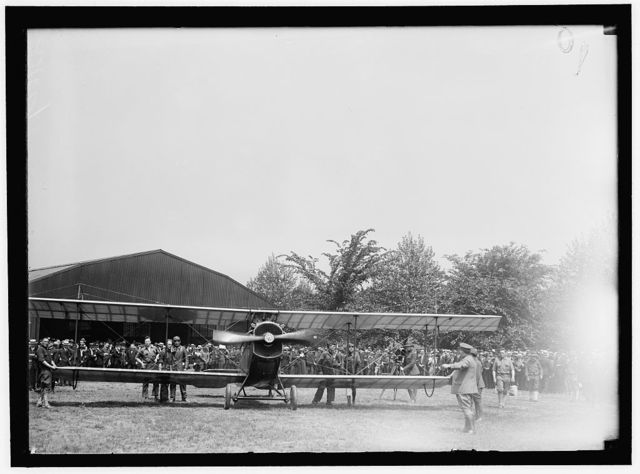 AIR MAIL. INAUGURATION OF SERVICE, POLO FIELD. START OF 1ST CONTINUOUSLY SCHEDULED SERVICE. CURTISS JN-46-H PLANE