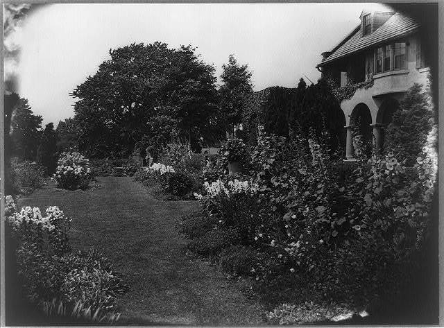 [Allgater, the home of the Horatio Gates Lloyd family, formal gardens]