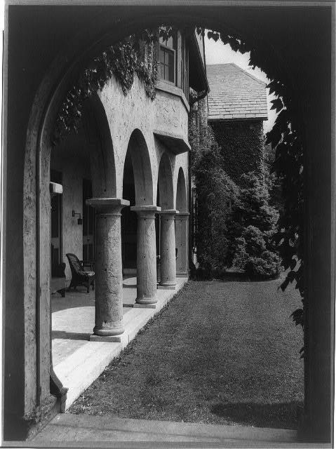 [Allgater, the home of the Horatio Gates Lloyd family, side entrance to home]