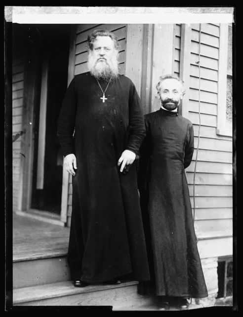 Arch Bishop Patiou of the Russian (Greek Orthodox) Church the highest living priest (Pope of the Russians), Bishop Alexander Archimande, head of the Russian Church in U.S.