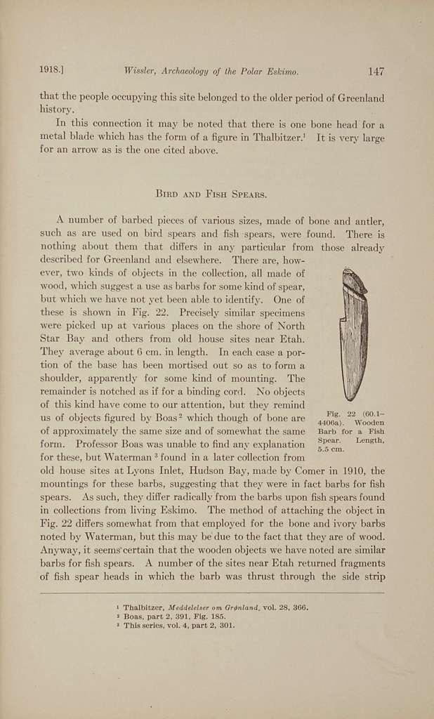 Archaeology of the Polar Eskimo,