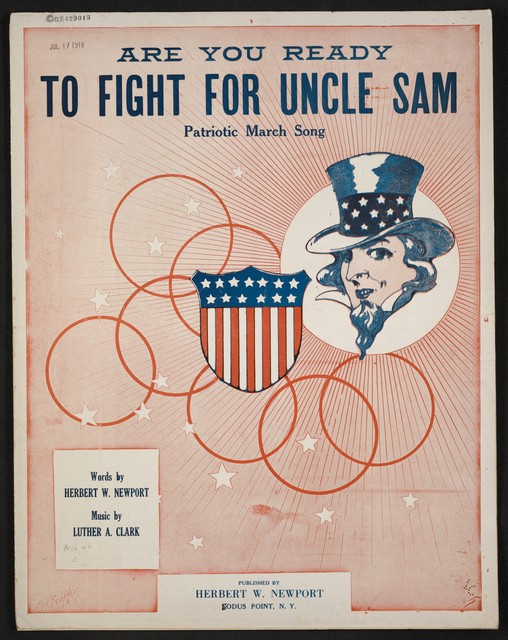 Are you ready to fight for Uncle Sam? patriotic march song