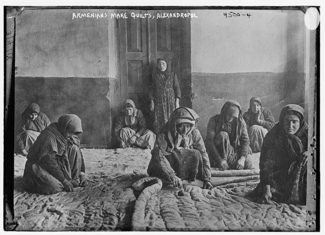 Armenians make quilts, Alexandropol