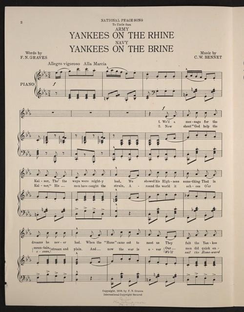 Army Yankees on the Rhine, Navy Yankees on the brine