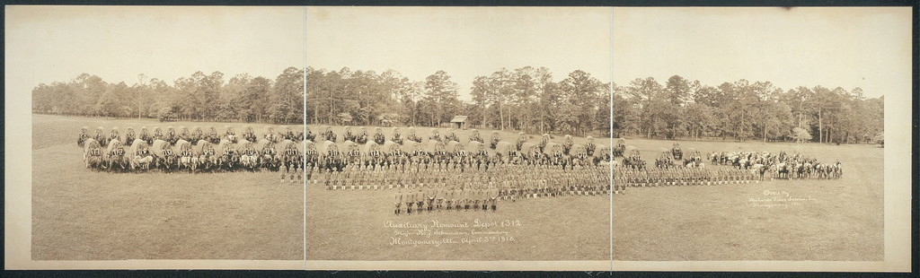 Auxiliary Remount Depot #312, Major K.J. Schumann, commanding, Montgomery, Ala., April 3rd, 1918