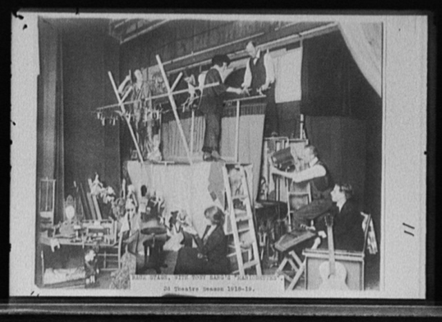 Backstage with Tony Sarg's marionettes, 3d theatre season, 1918-19