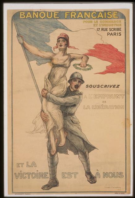 Banque Française pour le commerce et l'industrie. Souscrivez á l'Emprunt de la Libération et la victoire est á nous