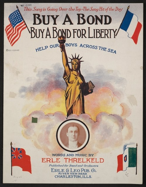 Buy a bond, buy a bond for liberty help our boys across the sea