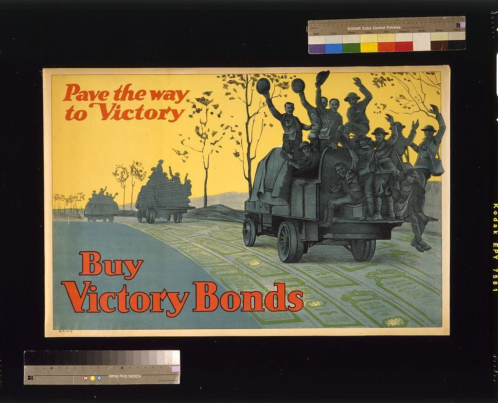 Buy War Bonds. Pave the way to victory