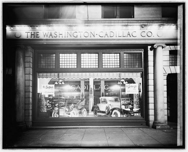 Cadillac Motor Co. window