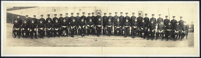 Capt. D. E. Dismukes and officers, U.S.S. Mount Vernon, Oct. 30, 1918