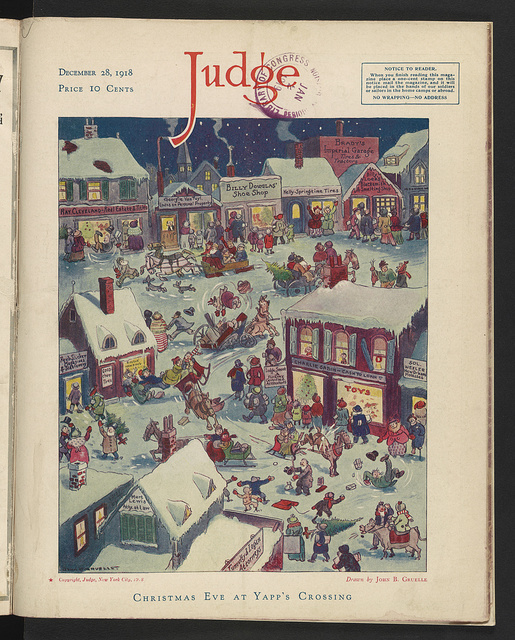 Christmas eve at Yapp's Crossing / Drawn by John B. Gruelle.