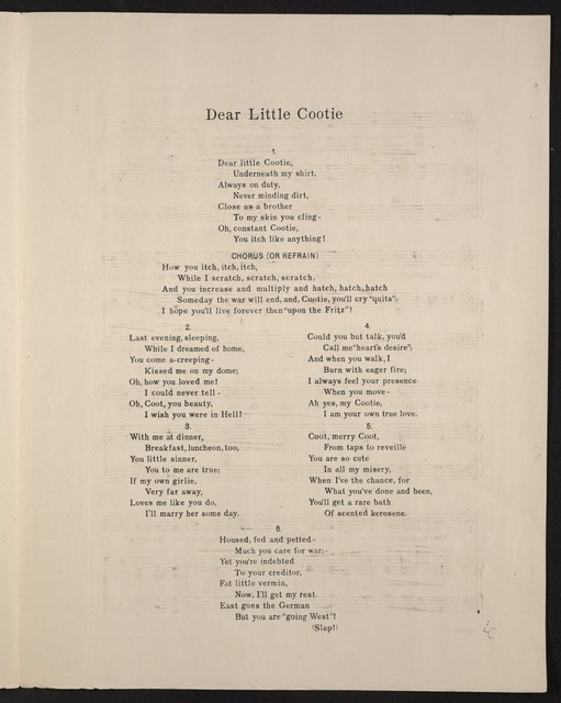 Dear little cootie