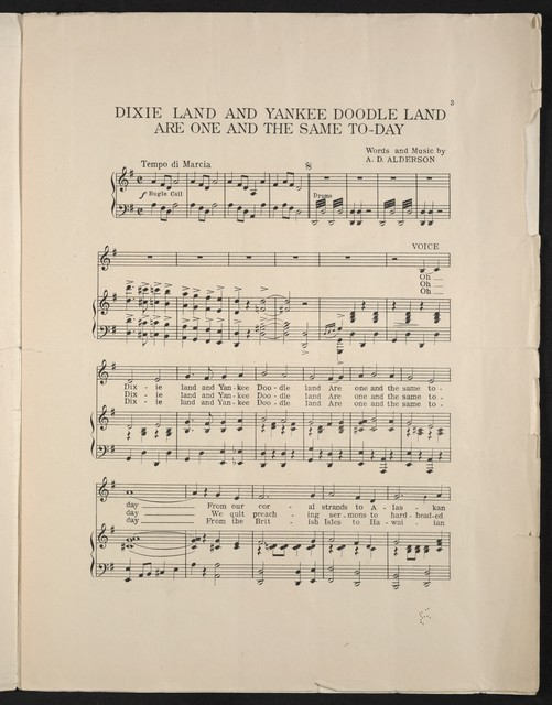 Dixie land and Yankee doodle land are the same to-day