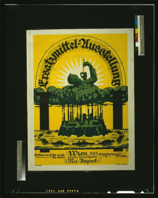 Ersatzmiddel-Ausstellung, Wien, 1918 / Alf. Offner.