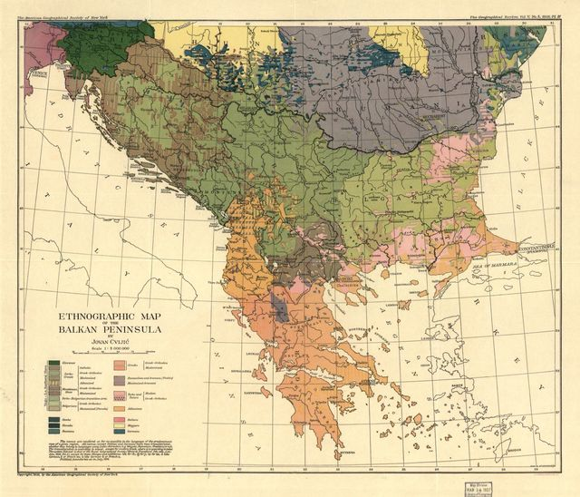 Ethnographic map of the Balkan Peninsula /