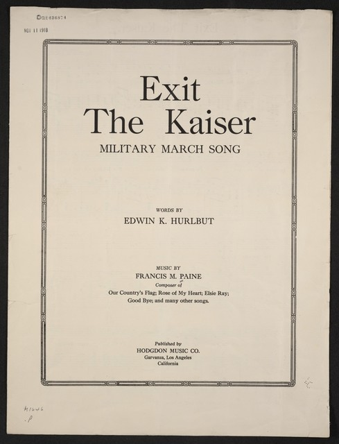 Exit the Kaiser military march song