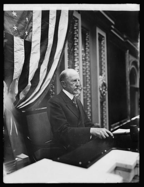 F.H. Gillette in Speakers chair, [Washington, D.C.]