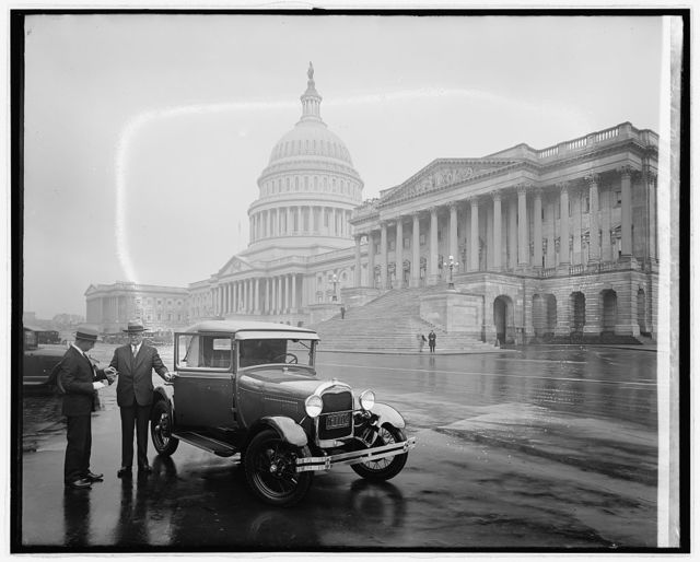 Ford Motor Co. new Ford at Capitol, [Washington, D.C.]