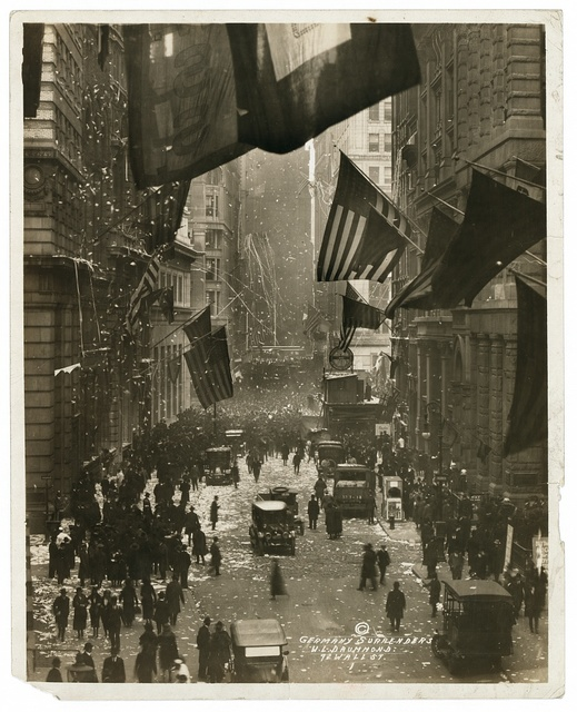 Germany surrenders / W.L. Drummond, 72 Wall St.
