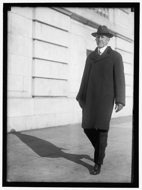 GILLETT, FREDERICK HUNTINGTON. REP. FROM MASSACHUSETTS, 1893-1925; SPEAKER, 66TH, 67TH, 68TH CONGRESSES; SENATOR, 1925-1931