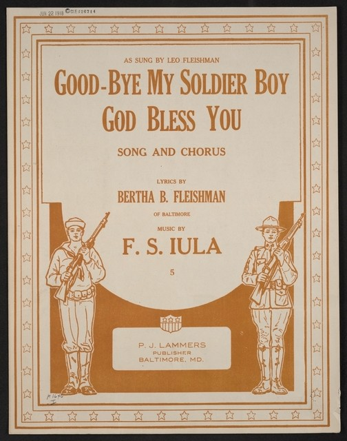Good-bye my soldier boy God bless you song and chorus